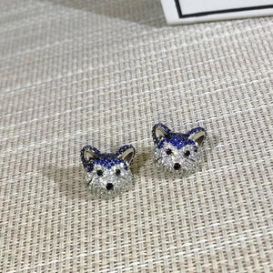 Stunning Husky Love Silver EarringsDog Themed Jewellery
