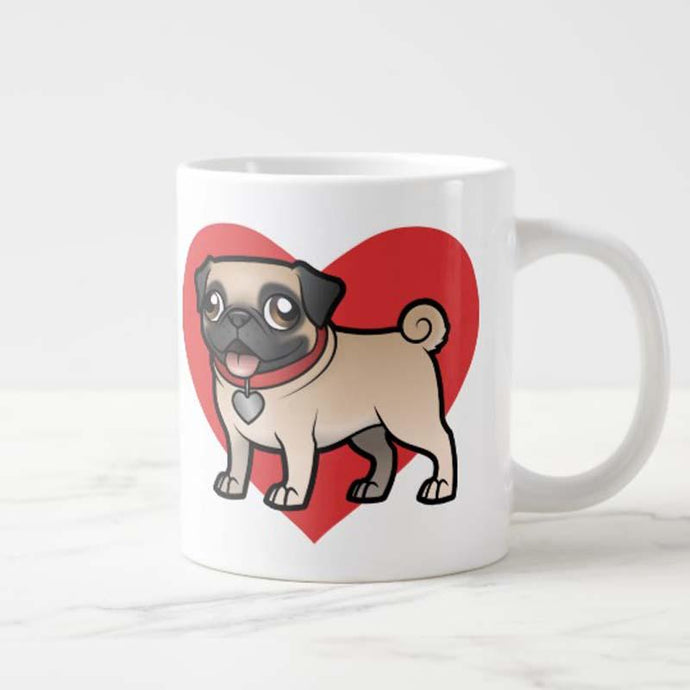 Super Cute Pug Love Ceramic MugMug