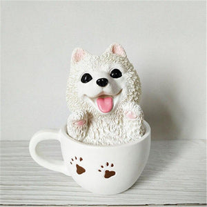 Teacup Pug Desktop OrnamentHome DecorSamoyed