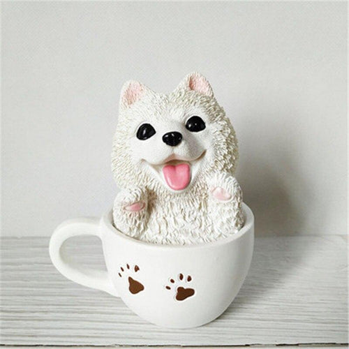 Teacup Samoyed Desktop OrnamentHome DecorSamoyed