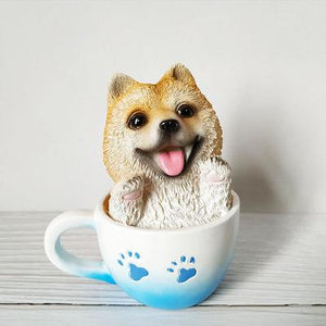 Teacup Samoyed Desktop OrnamentHome DecorShiba Inu