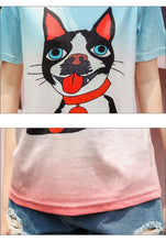 Load image into Gallery viewer, Toothbrush Moustache Boston Terrier T ShirtT shirt