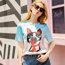 Load image into Gallery viewer, Toothbrush Moustache Boston Terrier T ShirtT shirtAs in ImageXL