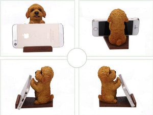 Toy Poodle / Cockapoo / Goldendoodle / Labradoodle Love Resin and Wood Cell Phone HolderCell Phone Accessories
