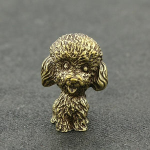 Toy Poodle Love Mini Copper FigurineHome Decor