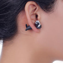 Load image into Gallery viewer, Two Piece Boston Terrier Handmade Polymer Clay EarringsDog Themed Jewellery