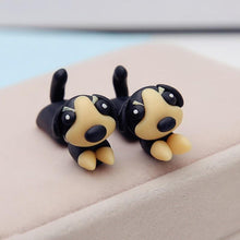Load image into Gallery viewer, Two Piece Dachshund Handmade Polymer Clay EarringsDog Themed Jewellery