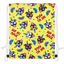 Load image into Gallery viewer, Unicorn American Pit Bull Terriers Love Drawstring BagAccessories
