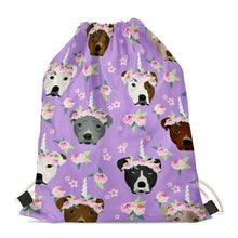 Load image into Gallery viewer, Unicorn American Pit Bull Terriers Love Drawstring BagAccessoriesAmerican Pitbull Terrier
