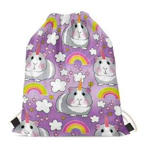 Unicorn American Pit Bull Terriers Love Drawstring BagAccessoriesGuinea Pig