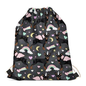 Unicorn Chihuahuas Love Drawstring BagAccessoriesMiniature Pinscher
