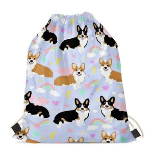 Unicorn Corgis Love Drawstring BagAccessoriesCorgi