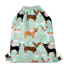 Load image into Gallery viewer, Unicorn French Bulldogs Love Drawstring BagAccessoriesChihuahua