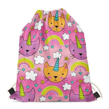 Load image into Gallery viewer, Unicorn French Bulldogs Love Drawstring BagAccessoriesOrange Cat