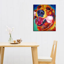 Load image into Gallery viewer, Vibrant Golden Retriever Hand Painted Canvas Art Oil PaintingHome Decor