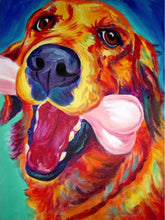 Load image into Gallery viewer, Vibrant Golden Retriever Hand Painted Canvas Art Oil PaintingHome Decor24x36