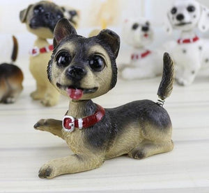 Waggling Tail and Nodding Head Beagle BobbleheadCar AccessoriesGerman Shepherd