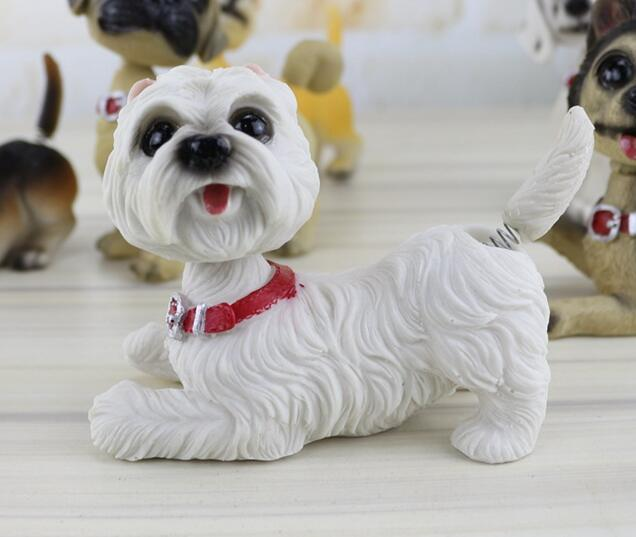Waggling Tail and Nodding Head West Highland Terrier BobbleheadCar AccessoriesWest Highland Terrier