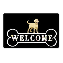 Load image into Gallery viewer, Warm Basset Hound Welcome Rubber Door MatHome DecorLabradorSmall