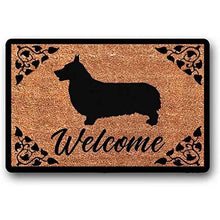 Load image into Gallery viewer, Warm Corgi Welcome Door MatHome DecorCorgi WelcomeLarge