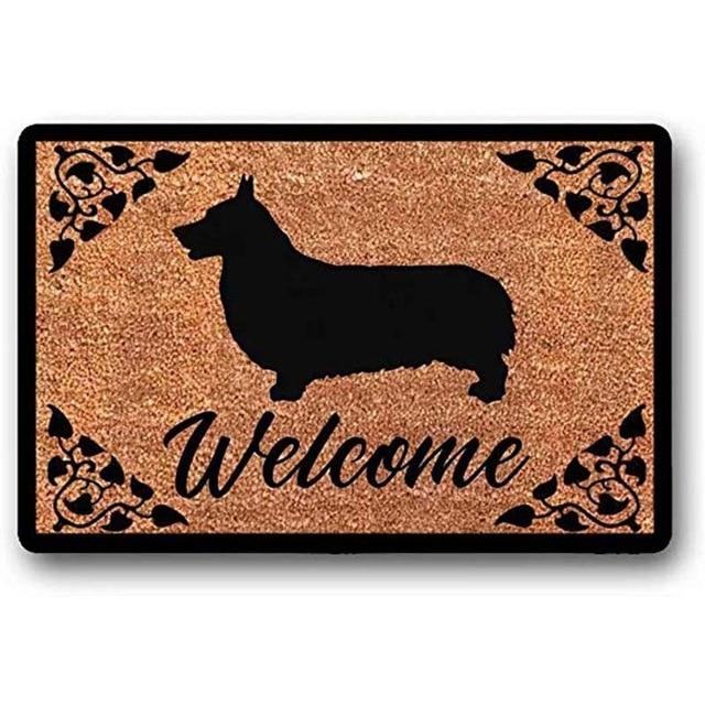 Warm Corgi Welcome Door MatHome DecorCorgi WelcomeLarge