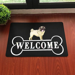 Warm Dachshund Welcome Rubber Door MatHome Decor