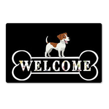 Load image into Gallery viewer, Warm Jack Russell Terrier Welcome Rubber Door MatHome DecorJack Russel TerrierSmall