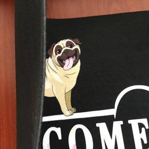 Warm Pug Welcome Rubber Door MatHome Decor