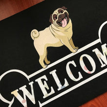 Load image into Gallery viewer, Warm Pug Welcome Rubber Door MatHome Decor