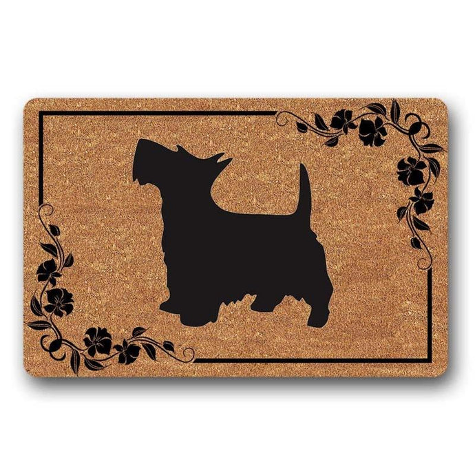Warm Scottish Terrier Welcome Door MatHome Decor