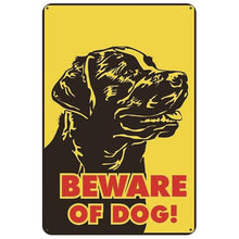 Load image into Gallery viewer, Warning Beware of Dog Tin Sign Board - Series 1Sign Board