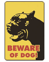 Load image into Gallery viewer, Warning Beware of Dog Tin Sign Board - Series 1Sign BoardAmerican Pit Bull - Beware of DogOne Size