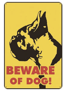 Warning Beware of Dog Tin Sign Board - Series 1Sign BoardBoxer - Beware of DogOne Size