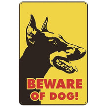 Load image into Gallery viewer, Warning Beware of Dog Tin Sign Board - Series 1Sign BoardDoberman Face - Beware of DogOne Size