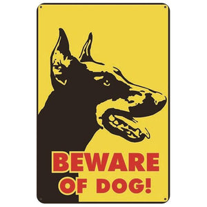 Warning Beware of Dog Tin Sign Board - Series 1Sign BoardDoberman Face - Beware of DogOne Size