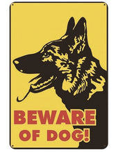 Load image into Gallery viewer, Warning Beware of Dog Tin Sign Board - Series 1Sign BoardGerman Shepherd - Beware of DogOne Size
