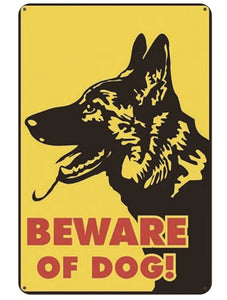 Warning Beware of Dog Tin Sign Board - Series 1Sign BoardGerman Shepherd - Beware of DogOne Size