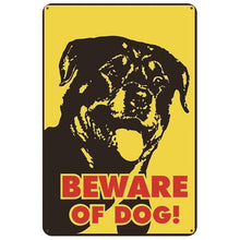 Load image into Gallery viewer, Warning Beware of Dog Tin Sign Board - Series 1Sign BoardRottweiler - Beware of Dog - Front ProfileOne Size