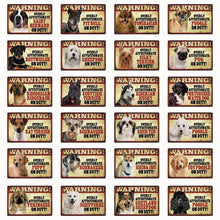 Load image into Gallery viewer, Warning Overly Affectionate Dogs on Duty - Tin Poster - Series 2Home Decor