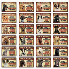 Load image into Gallery viewer, Warning Overly Affectionate Great Pyrenees on Duty - Tin Poster - Series 1Sign Board