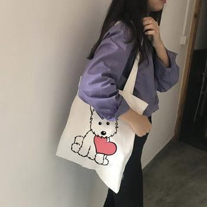 West Highland Terrier Love Canvas Tote BagAccessories