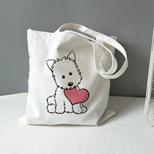 Load image into Gallery viewer, West Highland Terrier Love Canvas Tote BagAccessories