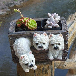 West Highland Terrier Love Multipurpose Decorative Flower Pot or Storage BoxHome Decor