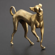 Load image into Gallery viewer, Whippet / Grey Hound Love Mini Copper FigurineHome Decor