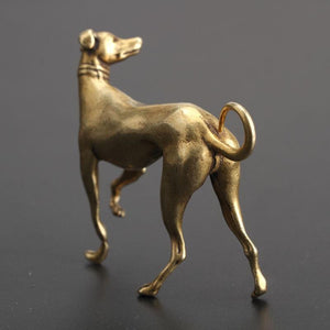 Whippet / Grey Hound Love Mini Copper FigurineHome Decor