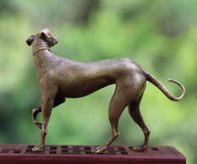 Load image into Gallery viewer, Whippet Love Pure Bronze Good Luck StatueHome Decor