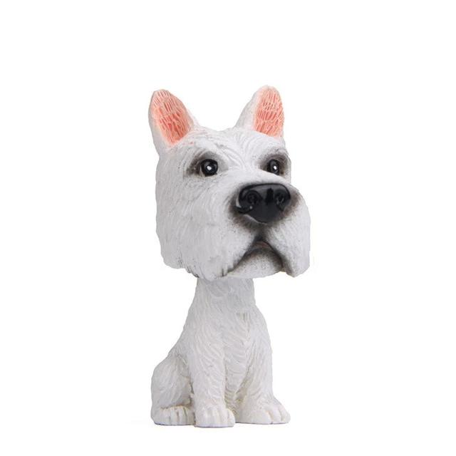 White Great Dane Miniature Car BobbleheadCar AccessoriesGreat Dane - White