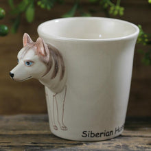Load image into Gallery viewer, White Husky Love 3D Ceramic CupMug