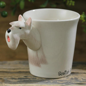 White Scotties / Scottish Terrier Love 3D Ceramic CupMug