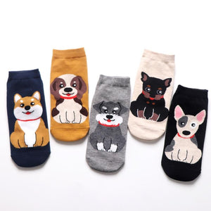 Womens Ankle Length Socks for Dog LoversSocks